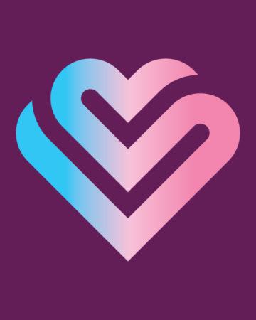 Heart Icon On Purple
