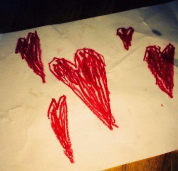 Gemalte Herzen