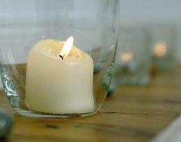 10 Kerze Im Glas Mit Edelstein